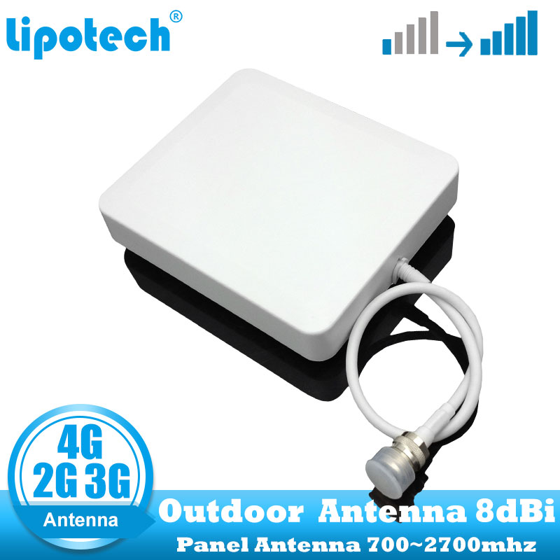 8dbi 700-2700Mhz 2G 3G 4G Outdoor Panel Antenna GSM CDMA WCDMA UMTS Repeater Antenna  LTE Booster / Amplifier External Antenna