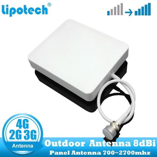 8dbi 700 2700Mhz 2G 3G 4G Outdoor Panel Antenna GSM CDMA WCDMA UMTS Repeater Antenna  LTE Booster / amplifier External Antenna