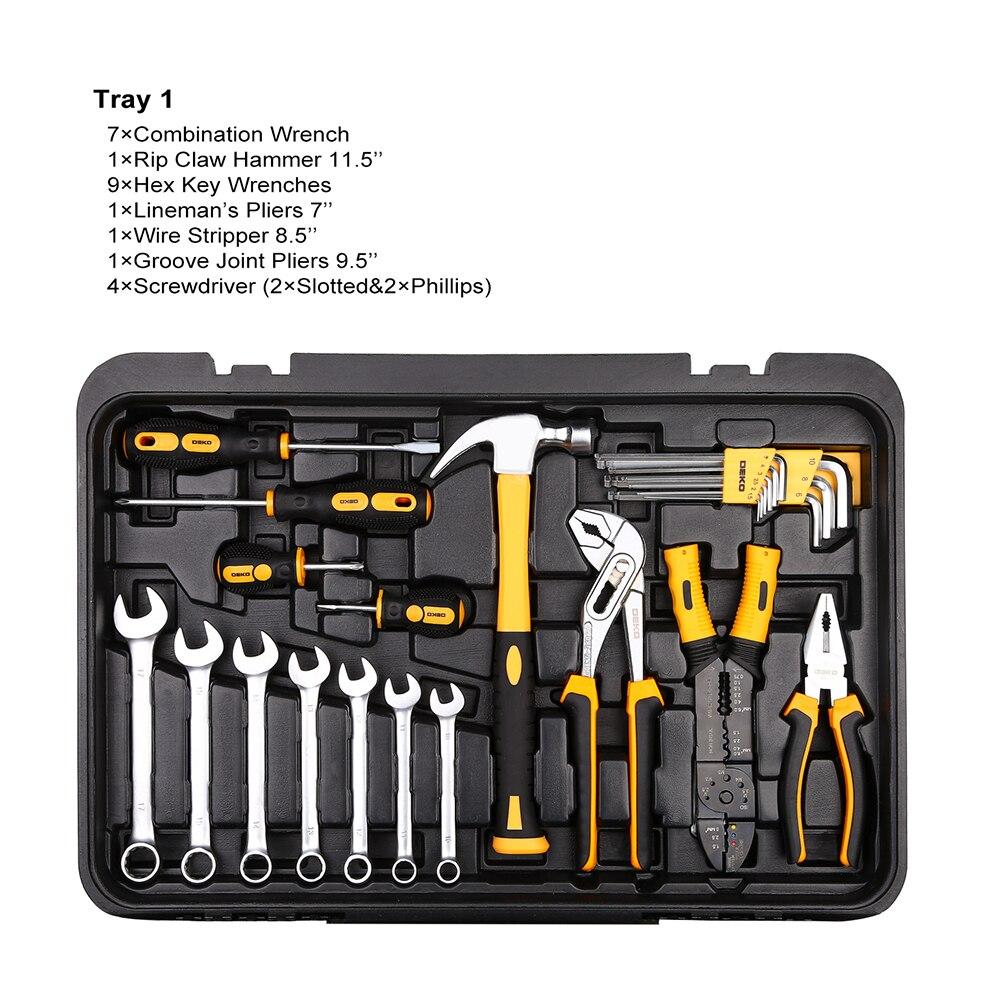 BOSI 3 in 1 strumenti trolley scatola fatta di laminato a freddo di lamiere di acciaio + ABS - 2