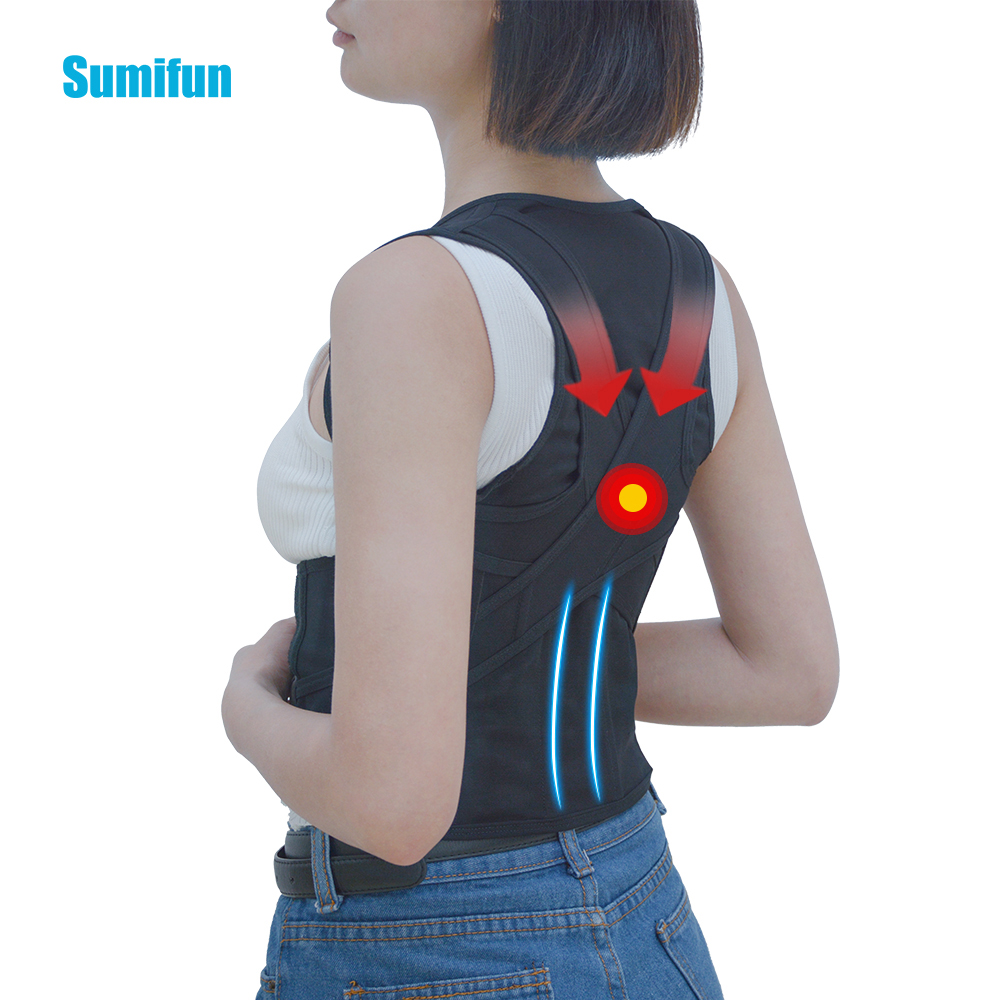 Adult Adjustable Shoulder Clavicle Rear Lumbar Support Strap Relief Universal Humpbacked Brace Correction C776