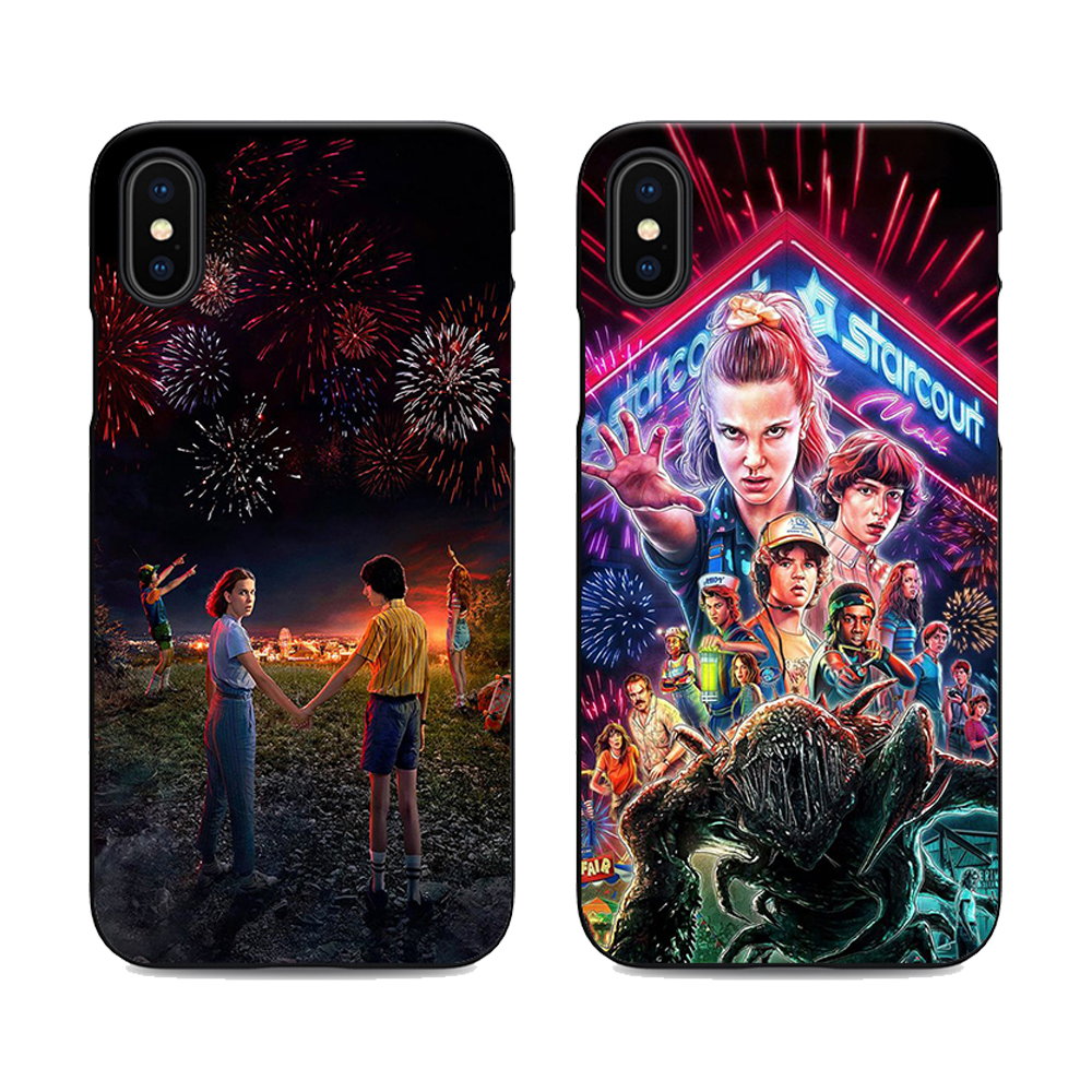 US $2 19 |stranger things season 3 phone case for iPhone X XR XS MAX 6 7 8  plus 5 5s 6s se for Apple soft Silicone black cover-in Half-wrapped Cases