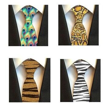 Caliente 3D estampado Animal corbata para hombres moda 8 cm ancho corbatas lindo divertido Kawaii cebra leopardo Casual obtener juntos lazos 5QR LD01