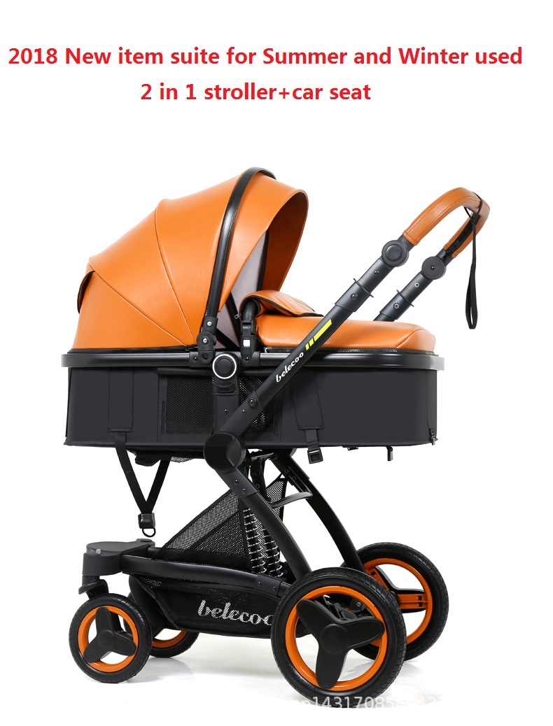 Best Newborn Prams Australia 2018 2019 Belecoo Luxury Baby Stroller 2 In 1 Carriage High Landscape Pram Suite For Lying And Seating On 2018 From Iraem Price Dhgate Com