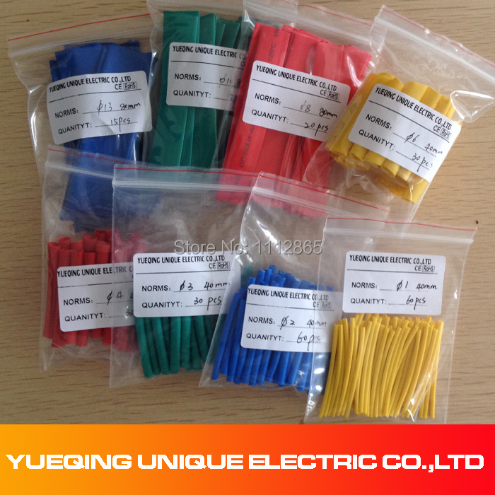 260pcs 8 Size Assortment 2:1 Heat Shrink Tubing Insulating Tape Wrap  Cable Kit+BHT1 Red Heat Shrink Butt Connectors & Splices 2 2 470uf electrolytic capacitor assortment kit 16 50v 100 pcs
