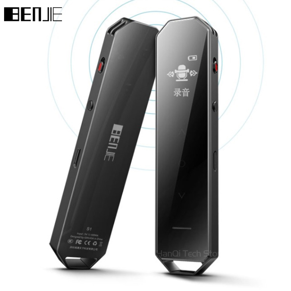 BENJIE S1 8G With Built-in Loud Speaker Digital Voice Recorder Long Time Recording Professional Dictaphone Mini MP3 Music Player