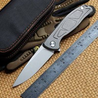 LOVOCOO F95 Tactical Flipper folding knife ball bearing D2 blade TC4 Titanium handle outdoor gear camp hunt knives EDC tools