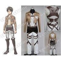 Titan Cosplay Shingeki hiçbir Kyojin Legion Cosplay Kostüm Ceket Kaban Hoodies Herhangi Boyutu Yüksek Kalite Eren Levi
