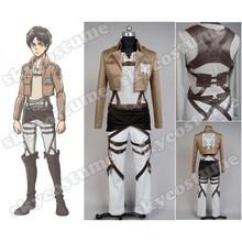 Attack on Titan Jacket Shingeki no Kyojin Legion Cosplay Costume Jacket Coat Hoodies Any Size High Quality Eren Levi