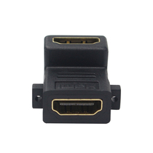 90 Degree Angle HDMI Converter with Screw Holes HDMI Female to HDMI Female Adapter Connector for HDTV DVD for Raspberry pi 3