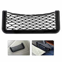 Huihom 20*8cm Car Net Organizer Storage Bag Phone Holder Elastic Net Mesh Pocket Car Interior Stowing Tidying Accessories