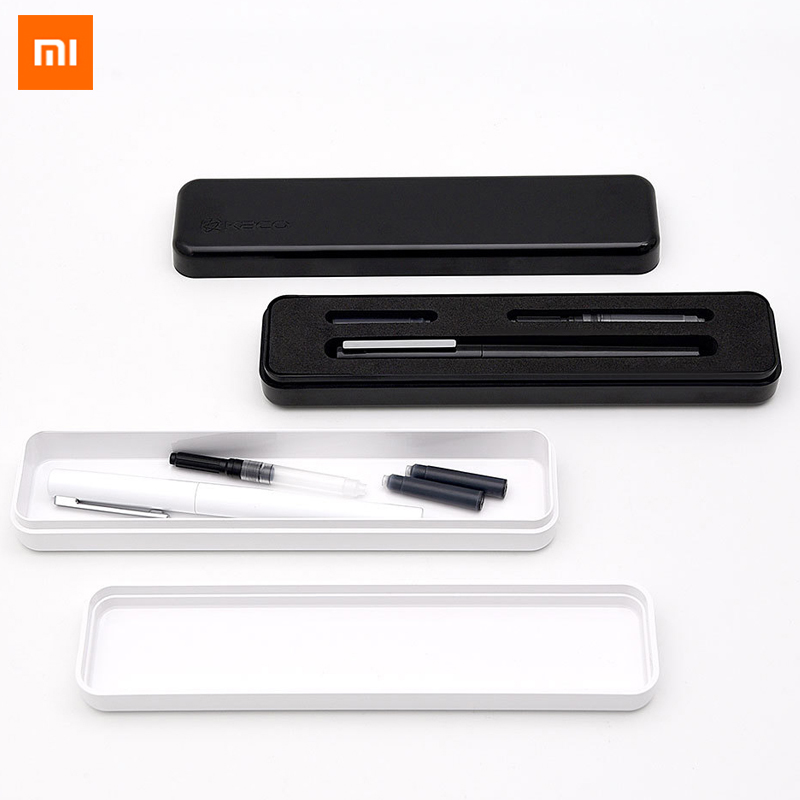Xiaomi Mijia KACO Luxury Black and White Fountain Pen Set 0.3mm EF Nib Steel Ink Pens for Simple Business Gift Free ShippingXiaomi Mijia KACO Luxury Black and White Fountain Pen Set 0.3mm EF Nib Steel Ink Pens for Simple Business Gift Free Shipping