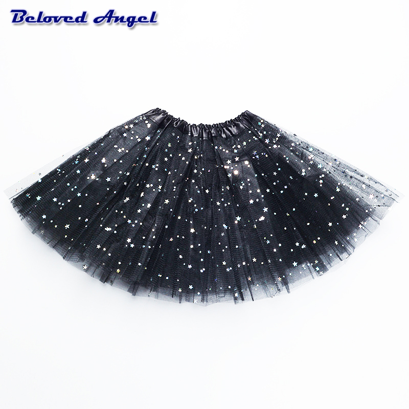 2-8Yrs Translucent Children Fluffy Pettiskirts Tutu Saias Baby Girls Skirts Princess Skirt Girls Ballet Dance Wear Party Clothes 1