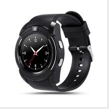 V8 smart watchสวมใส่อุปกรณ์บลูทูธs mart w atchกับซิมการ์ดtfสมาร์ทการตรวจสอบสุขภาพสำหรับios a ndroid p honeมาร์ทโฟน