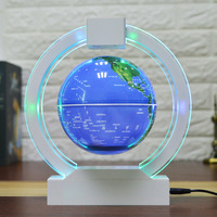 Levitation floating globe Novelty gifts Chrismas lights Magnetic levitating lamp 6 circular globe Creative novelty lights