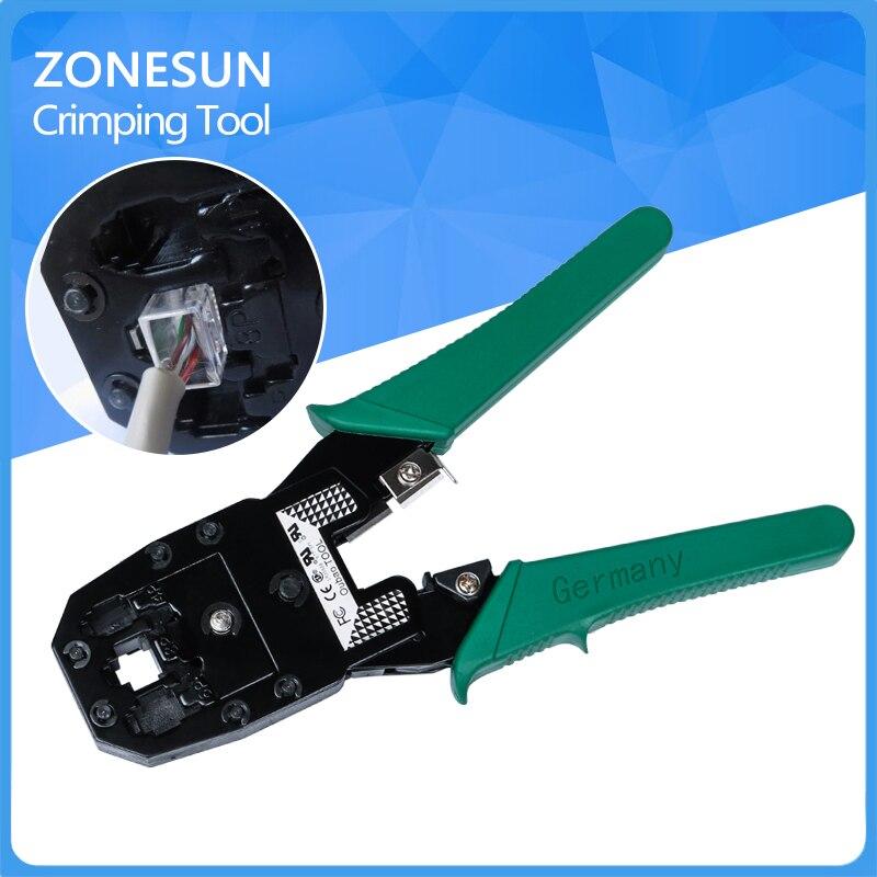 FREE SHIPPING!ZONESUN crimping tool rj45,crimping plier,wire crimping tool in plier, crimper plier RJ11 EZ free shipping 16 400mm2 baterry hydraulic crimper crimping tool
