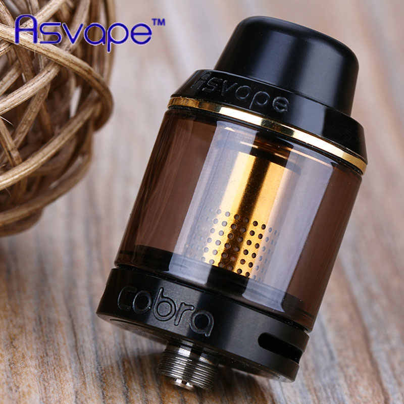 100% Original Asvape Cobra Sub Ohm Tank Atomizer 3.8ml Capacity 0.5 ohm coil head Fit 510 thread Mod/Battery E-cigarette Vape