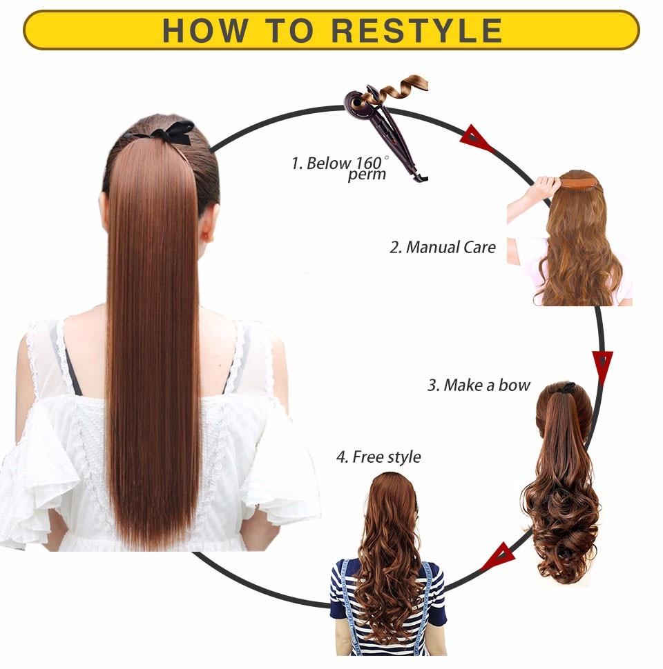 Extensions de Cheveux Synthétique Queue De Cheval