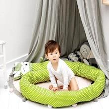200 см/330 см детская кровать протектор кроватки бампер колодки детская кровать бампер в кроватку бампер безопасности из смеси хлопка Детский Комплект постельного белья рельс
