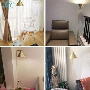 Image 5 - Moderna Oro Nero Nordic lampada da pavimento del salotto Ins camera da letto postmoderna E27 marmo in piedi di illuminazione per soggiorno camera da letto
