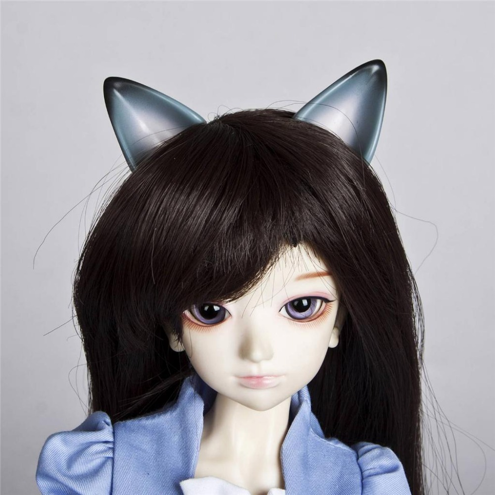 [wamami] 786# OOAK Gray Ear Horn Magnetic 1/4 MSD&1/6 SD AOD DOLL BJD Dollfie Accessories [wamami] aod 1 4 bjd dollfie girl doll parts single head not include make up meng ya qi