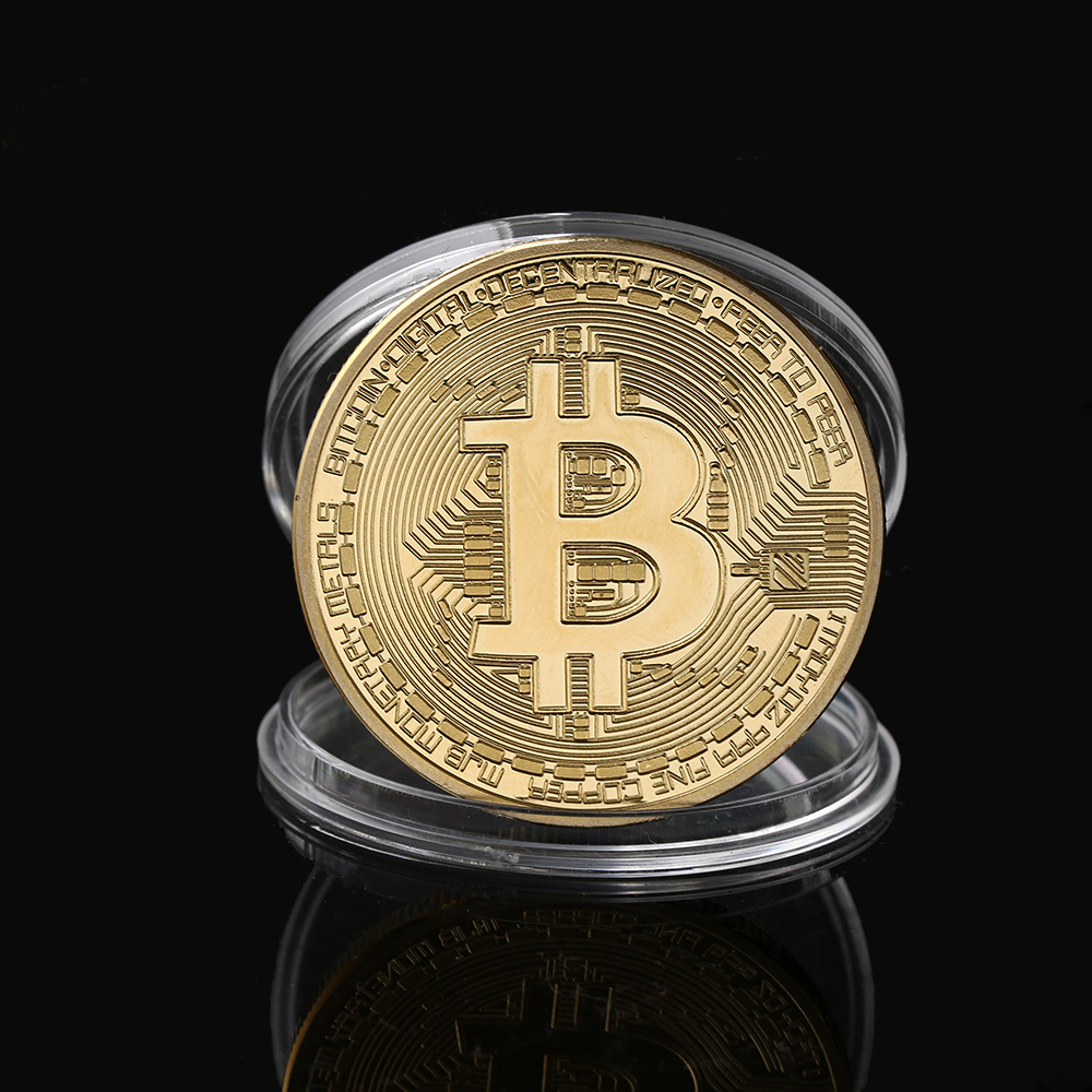 Gold Plated Physical Bitcoins With Case