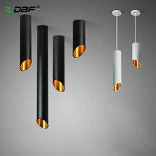 [DBF] พื้นผิวLEDติดตั้งโคมไฟเพดาน1Mลวดแขวน7Wสีขาว/สีดำAC85 265Vเพดานจุดห้องครัวBar Home Decor