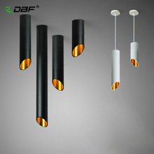 [Dbf] led表面実装天井ランプ1メートルワイヤー吊り7ワット白/黒AC85 265V天井スポットライトキッチンバー家の装飾