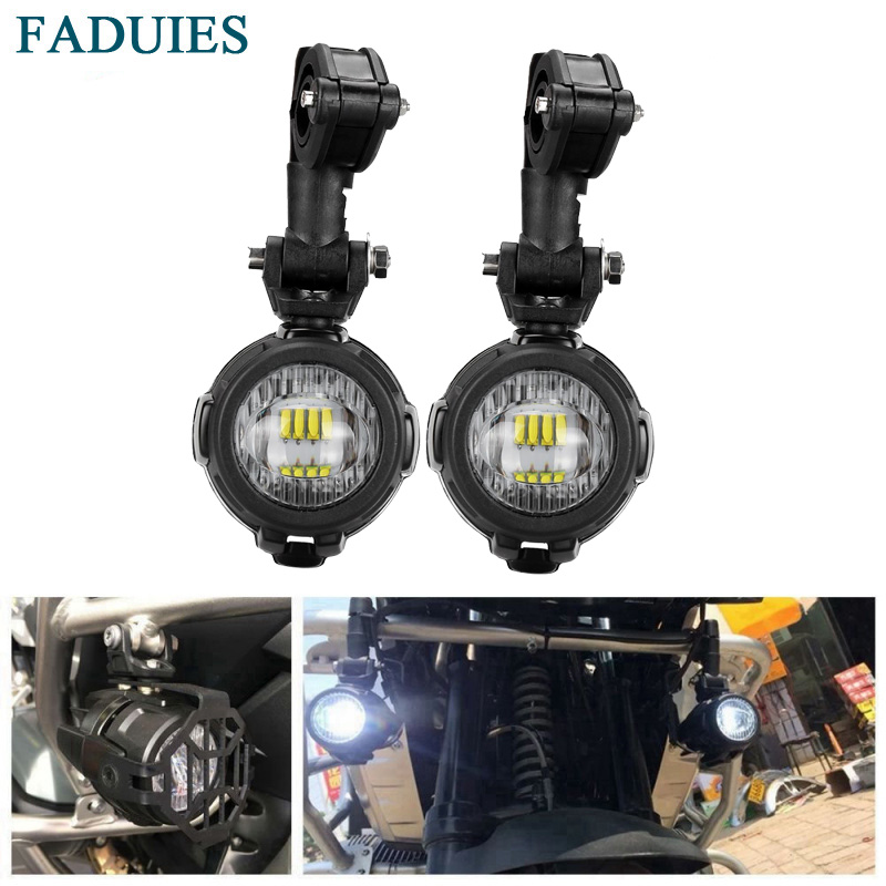 FADUIES Motocycle Fog Lights For BMW R1200GS/ADV K1600 R1200GS R1100GS F800GS LED Auxiliary Fog Light Driving Lamp motorcycle auxiliary fog lights protect cover safety driving lamp for bmw k1600 r1200gs adv f800gs auxiliary lights