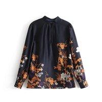 Elegant Floral Print Blouse Women Long Sleeve Casual Tops Fashion Autumn Ladies Shirts Loose Blusas Camisas