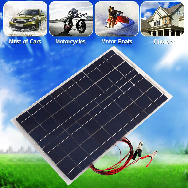 12V 30W Semi Flexible Solar panel DIY Solar Power Bank Outdoor Tourism Portable solar Charger for Battery RV Car Boat sp 36 120w 12v semi flexible monocrystalline solar panel waterproof high conversion efficiency for rv boat car 1 5m cable