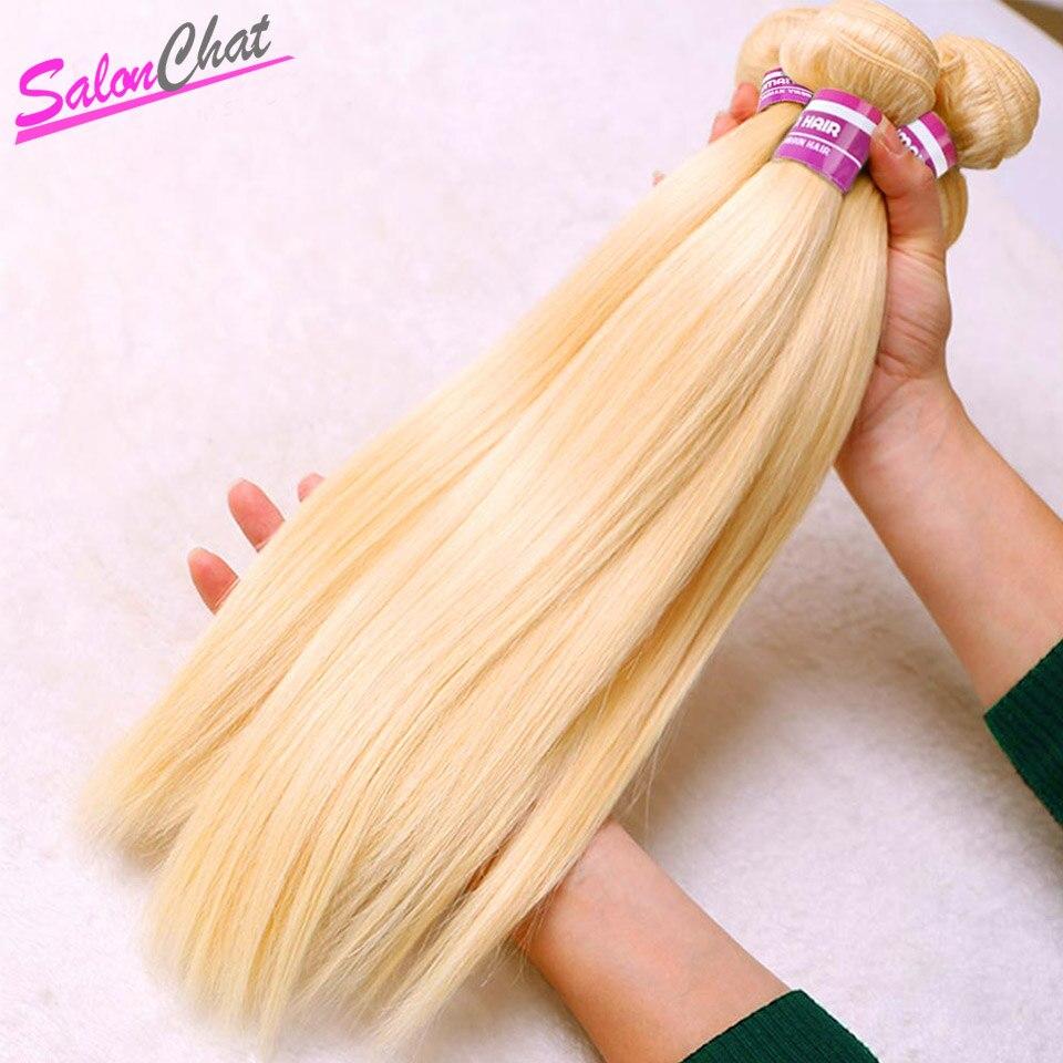 613 cheveux raides brésiliens miel Blonde paquets 1/3/4 paquets 10 à 50 pouces Remy cheveux humains tissage SalonChat