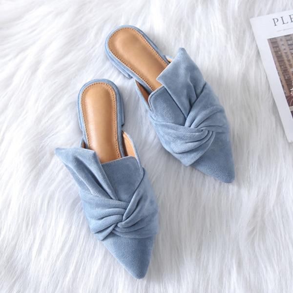 Boussac Dames Black Bleu Glissement Mode Pointu Chaussures 41 Taille Bout Bowtie Plat Élégant blue Sur De Appartements Femmes Swa0096 apricot YSxTwrOSq