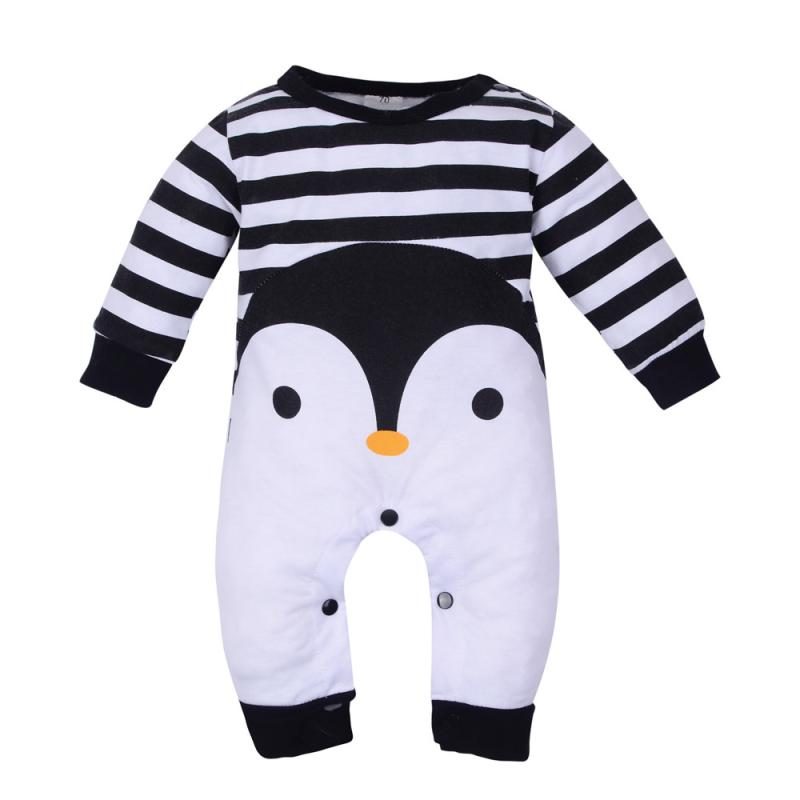 baby clothes Newborn Baby Girl Boy Long Sleeve Cartoon Print   Romper   Jumpsuit Pajamas Outfits M1