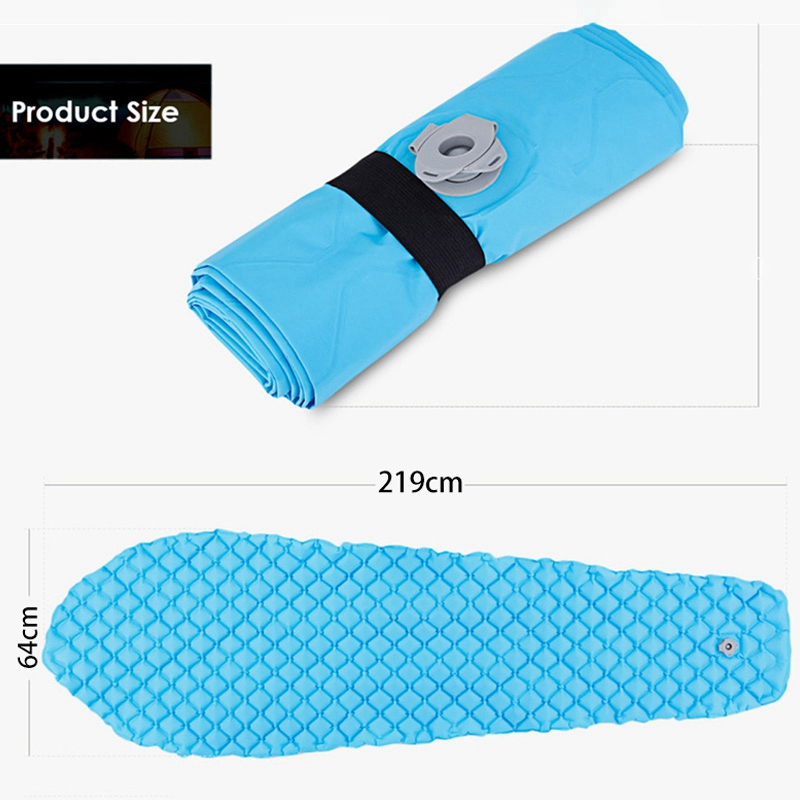 Bluefield 219 см x 64 см наружная подушка для кемпинга Надувная Кровать Коврик Надувной одиночный Мумия Коврик для кемпинга