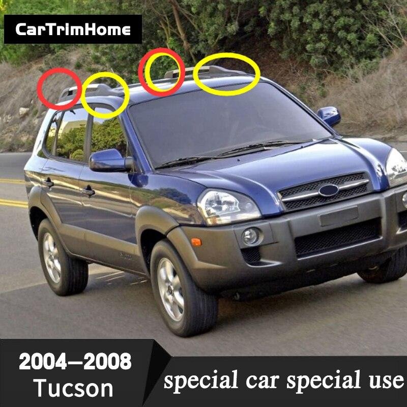 8 pièces de Toit Ferroviaire Fin Housse De Protection Pour Hyundai Tucson 2004 2005 2006 2007 2008 Prado Toit Casquettes Coque De Remplacement