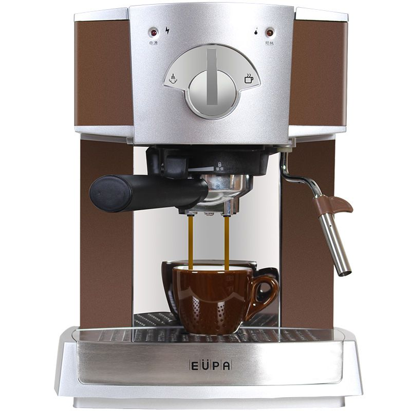 220V Semi Automatic Espresso Coffee Maker Steam Milk Foam Coffee Machine Stainless Steel Froth Milk With 1.6L Tank professional ce stainless steel electric espresso coffee maker semi automatic 5 10 cups italian coffee machine with milk frother