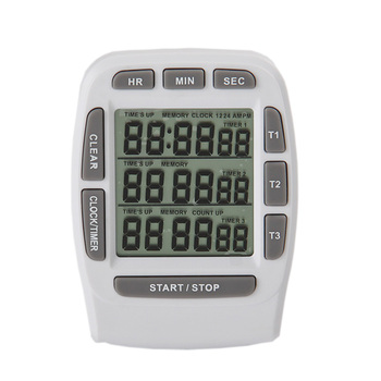 Digital LCD Kitchen Timer Magnetic Timers Cooking Timer 3 channel Display Hour/Min/Sec AM/PM Kitchen Gadgets Cooking Tools
