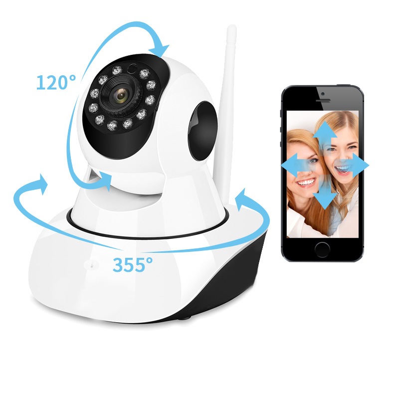 Home Wireless 720P HD IP Camera IR-Cut Night Vision P2P Baby Monitor Audio Record WIFI CCTV Onvif Indoor Surveillance Camera