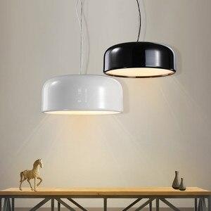 Image 5 - GZMJ Modern Metal LED Pendant Lights White/Black Nordic Brief LED Bedroom Hanging Lamp 90V 240V E27 Bulb Dining Room HangLamp