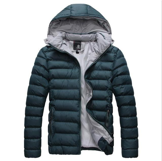 Pria Down Parka Mantel 2018 Musim Dingin Musim Gugur Baru Pria Korea Katun  Jaket Tebal Pendek f598a4e2c5