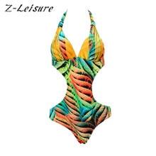 2017 Mujeres Sexy Ropa de Playa de Malla traje de Baño de Una Pieza del traje de Baño Femenino Traje de Baño Estampado Floral de Verano Sin Respaldo Monokini BK490