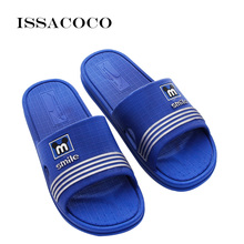 ISSACOCO 2018 Slippers Shoes Sandal Men Summer Shoes Flip Flops Non-slip Solid Color Home Slippers Pantuflas Chinelo Terlik issacoco 2018 new slippers men shoes sandals summer shoes home slippers man bathroom shoes sandals men pantuflas terlik chinelo