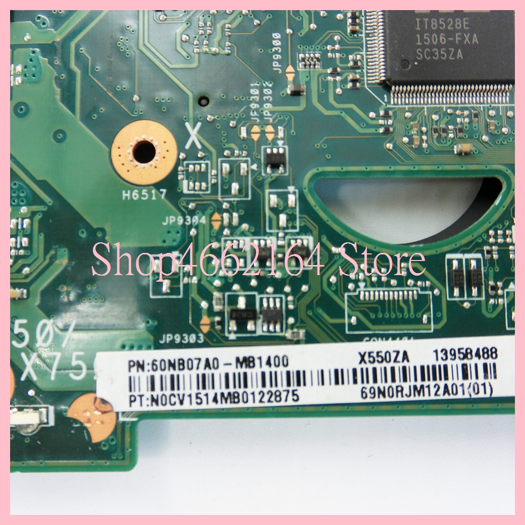 Image 5 - X550ZA motherboard REV2.0 For ASUS X550ZA A10 7400CPU Laptop motherboard X550 X550Z X550ZE Notebook mainboard fully tested-in Laptop Motherboard from Computer & Office