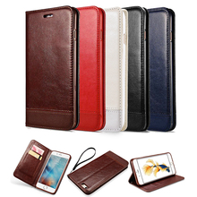Luxury Crazy Horse Wallet Case For iphone 6 6S 4.7 / Plus 5.5 inch Cover Flip PU Leather Sleeve Book Stand Card New Pouch shell