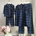 Family Pajamas Children's pajamas for girl Matching Mother and Daughter Father Kids Sleepwear 100% Cotton Plaid Lace nightgown