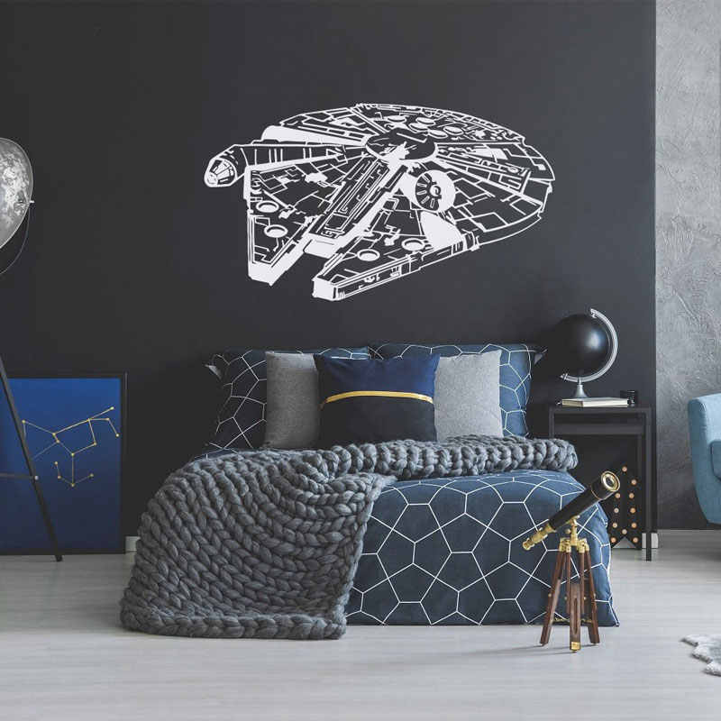 Star Wars Lazo Fighter Vinilo Adhesivo Mural Dormitorio