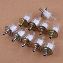 CITALL 10 adet/takım 5/16 inç 8mm benzinli yakıt hattı filtresi için fit araba tekne traktör kir bisiklet ATV motosiklet aksesuarları