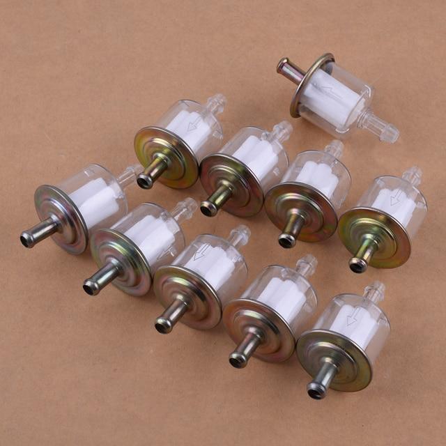 CITALL 10 stücke/Set 5/16 zoll 8mm Benzin Kraftstoff Linie Filter fit für Auto Boot Traktor Dirt Bike ATV Motorrad Zubehör