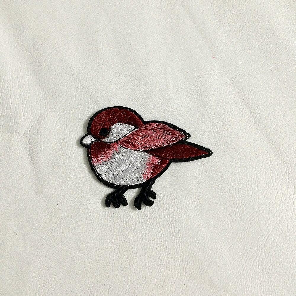 ⃝Envío libre de DHL 200 unids/lote rojo bordado pájaros parches ...