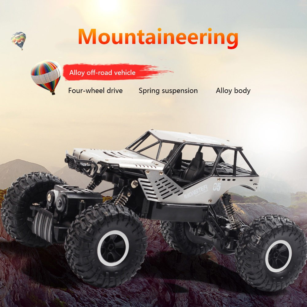 Image 2 - Super alloy Rc car off road vehicle 4wd high speed big foot climbing car crawler type climbing car remote control toy-in RC Cars from Toys & Hobbies